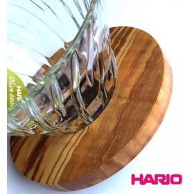 【HARIO】V60橄欖木圓錐耐熱玻璃濾杯 1~4杯 VDG-02-OV